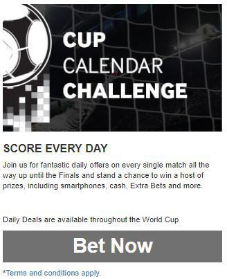 Betway Instadaily world cup betting promotions